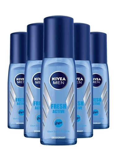 Nivea Nivea Deodorant Erkek Fresh Active Pump Sprey 75 Ml X5 Renksiz